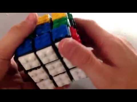 Homemade lego 3x3 Rubiks cube solve Music  Flobots Handlebars