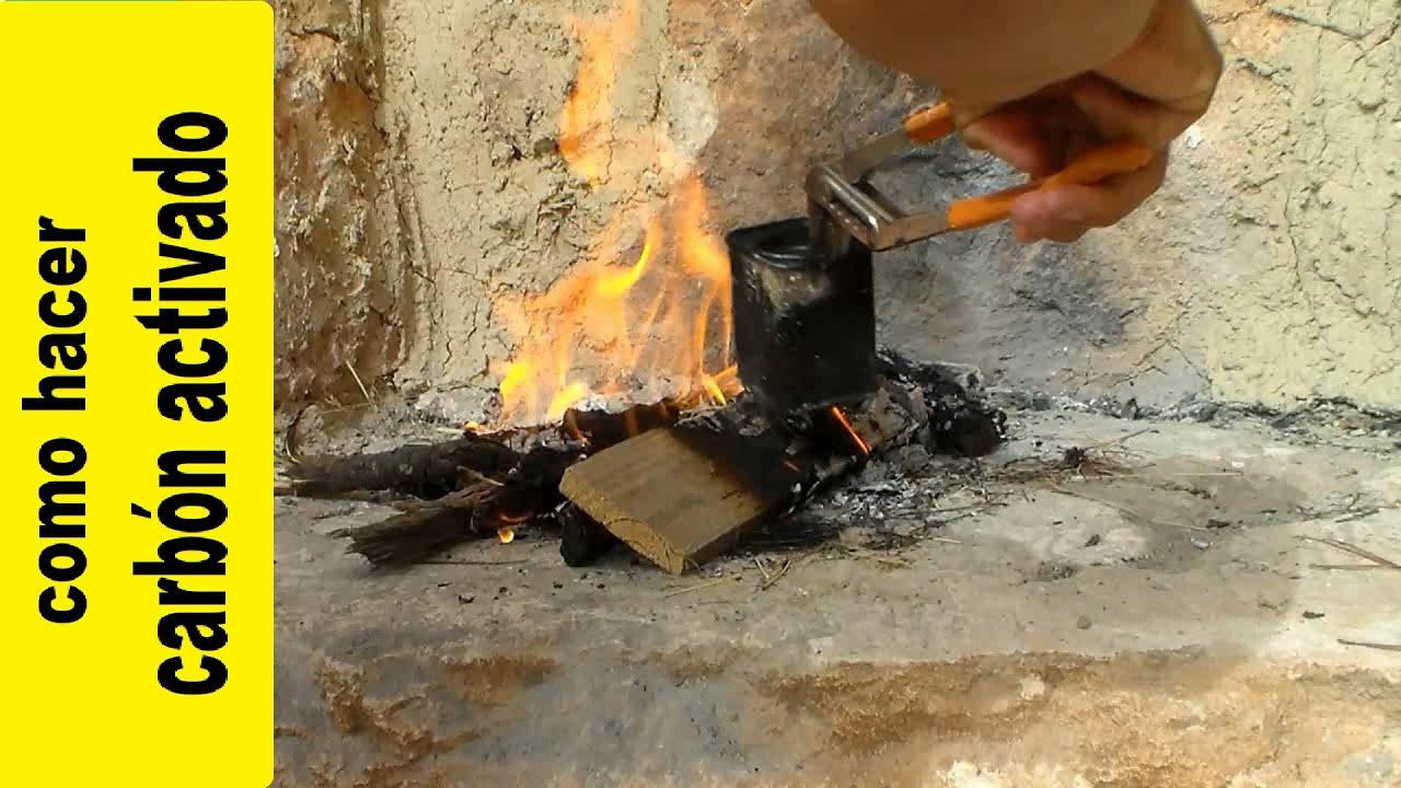 Como hacer carbón activado, carbón vegetal o algodón carbonizado de supervivencia y bushcraft