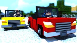 Minecraft : Corrida MALUCA! - Lucky Block Azul? #TeamGDN