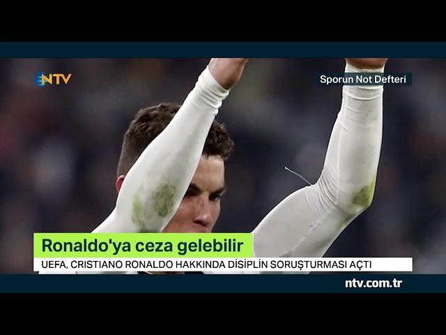 Ronaldo ceza tehlikesiyle karşı karşıya... (Gol sevinci nedeniyle ceza alabilir)