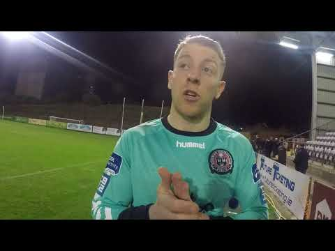 Bohs goalkeeper Shane supple after 2-0 defeat to cork