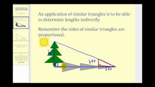 Indirect Measurement Using Similar Triangles