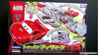 Tomica Transforming Lightning Mcqueen Into Speedway Track Cars 2 Takara Tomy Disney  カーズ2