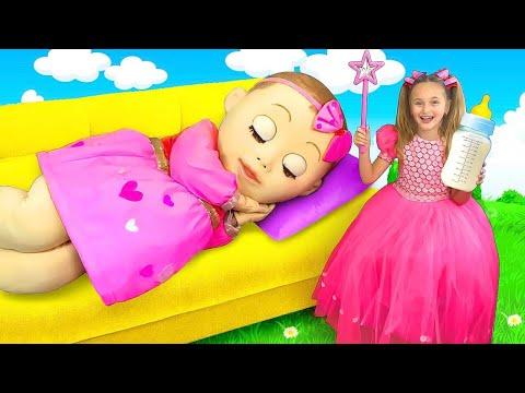 Sasha Plays With A Big Baby Doll