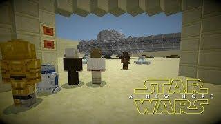 Minecraft StarWars: Escape From Tatooine Scene Recreation