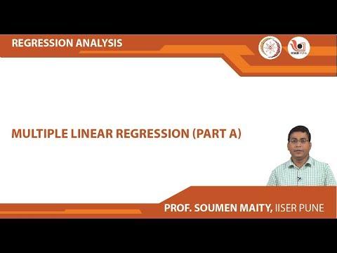 Mod-02 Lec-06 Multiple Linear Regression