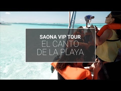 El Canto de la Playa en el Tour Saona VIP de Caribe Activo