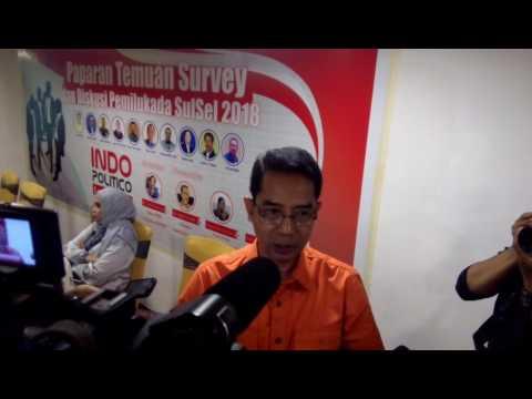 Wow ini dia hasil survey Bakal Calon Gubernur Sulsel 2018 Indo Politico Indonesia