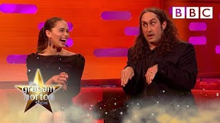Emilia Clarke can't stop laughing at Ross Noble's Christmas prank… | The Graham Norton Show - BBC