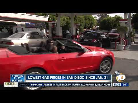 Gas prices drop in San Diego County