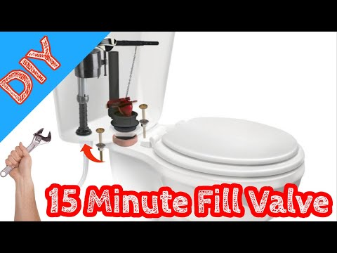 How to - Fill Valve Replacement on toilet (Easy 15 Minute repair)