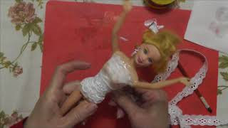Делаем корсет свадебного платья для барби