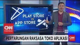 Gambar cover App Store VS Play Store
