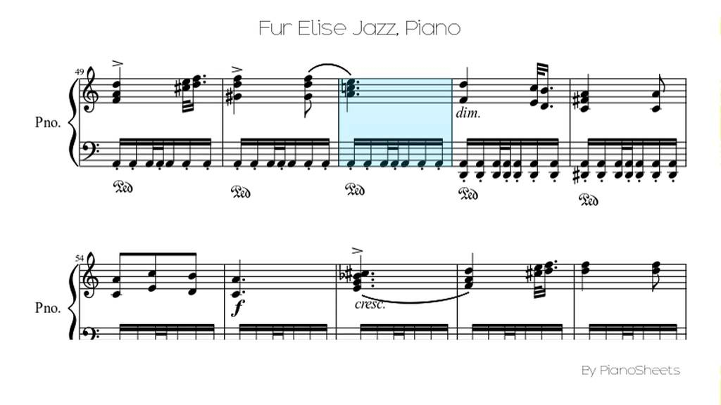 Piano jazz piano sheet music for beginners : Fur Elise Jazz [Piano Solo] - YouTube