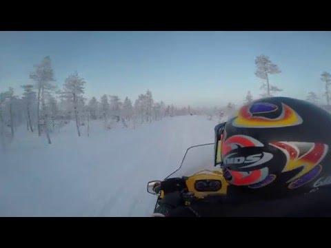 Snowmobile Ride, Levi, Finland. 2016