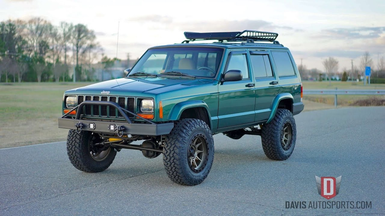 davis autosports jeep cherokee xj restored built all. Black Bedroom Furniture Sets. Home Design Ideas