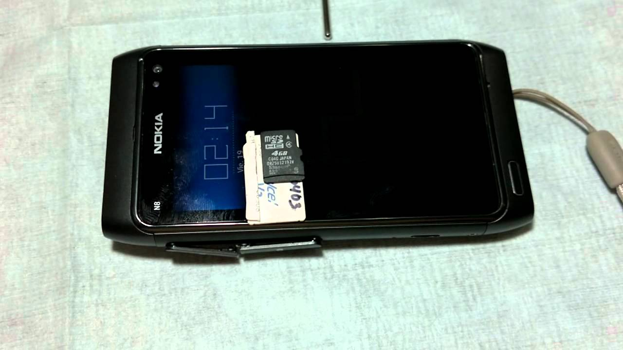 Download Error al insertar MicroSD en un Nokia N8 (HD)