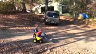 Mini dump truck racing