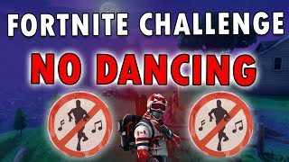 NO DANCING SIGNS in Fortnite (Fortnite Battle Pass Challenge)