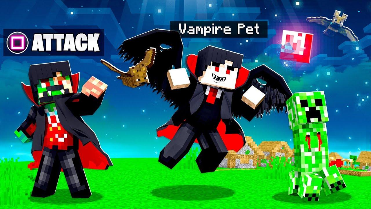 Taming PET VAMPIRES in MINECRAFT!