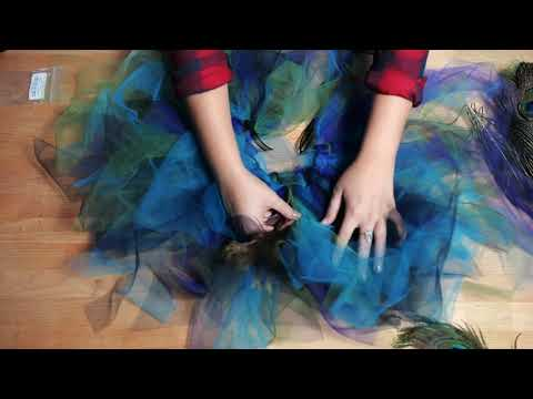 Peacock Feather Tutu - DIY Halloween Costume - Moonlight Feather - Peacock Feathers