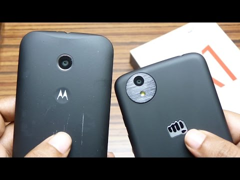 Android One Micromax CANVAS A1 Unboxing & Hands On Review ft Moto E