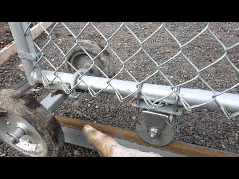 24' ChainLink Custom Driveway Roll Gate on Rail