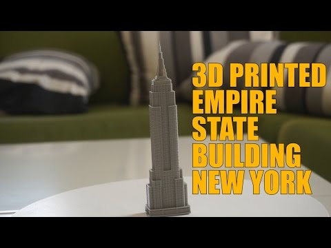 3D Printed Empire State Building New York - TimeLapse