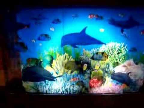 Aquarium Dolphin Motion Night Light Lamp Amp Clock Youtube