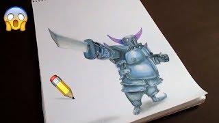 Como Dibujar Al PEKKA de Clash royale y Clash of clans / SPEED DRAWING