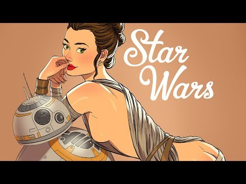 Star Wars in Pin-Up Style [ART] from YouTube · Duration:  55 seconds