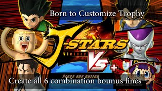 J-Stars Victory VS+ خلق كل 6 مزيج خطوط مكافأة الكأس النقابة