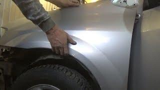 Как снять переднее крыло. Mazda MPV.