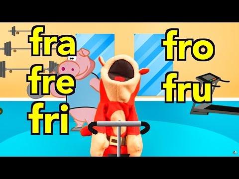 Sílabas fra fre fri fro fru  El Mono Sílabo  s Infantiles  Educación para Niños #