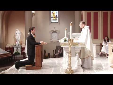 Catholic Wedding Ceremony at St. Monica's Catholic Church in Santa Monica