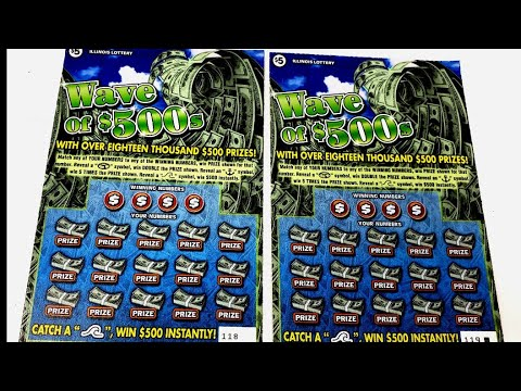 $5 Wave of $500s Illinois Lottery Scratch Tickets