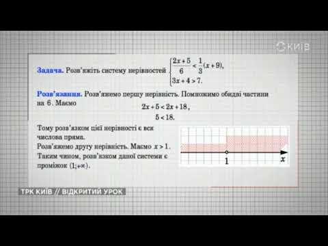 11 клас. Алгебра. Лінійні нерівності.