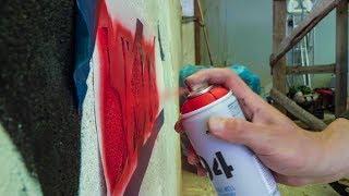 Как рисуют граффити на частных домах