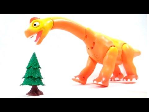 Поезд Динозавров - игрушки из мультфильма - говорящие динозавры