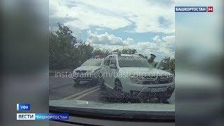 Фото В Уфе лишенный прав водитель иномарки провез на двери инспектора ГИБДД – видео
