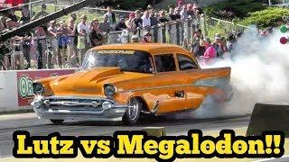 Lutz vs Megalodon Procharged Camaro at No Prep Kings 2 Topeka Kansas thumbnail
