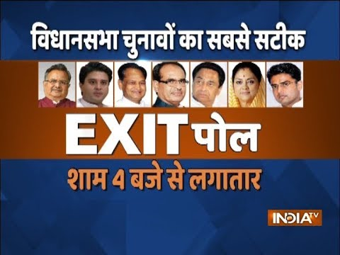 Assembly Elections 2018: Watch India TV Exit Poll from 4 PM today