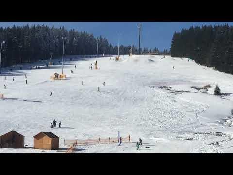 Skilift - Kaiserwetter - Schmiedefeld am Rennsteig - Snowboarden - Apres Ski - Abfahrt 😎👍