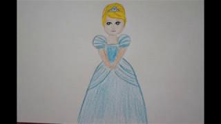 👱 Prinzessinnen zeichnen - Aschenputtel malen - Draw Princess - Cinderella - Рисуем Золушку