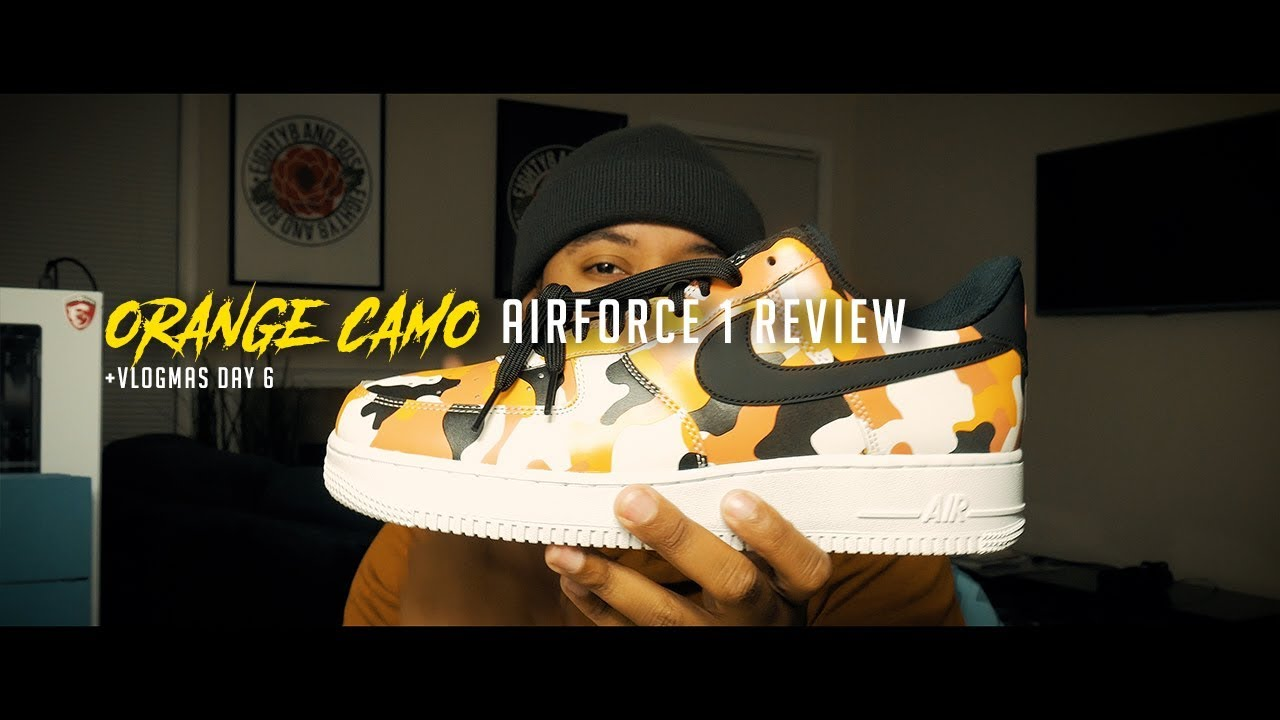 b252afb87efe2 NIKE AIR FORCE ONE | ORANGE CAMO | SNEAKER REVIEW - YouTube
