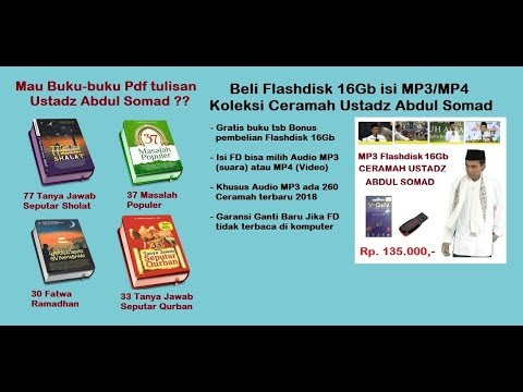Mp3 Ceramah Ustadz Abdul Somad 2018 Full Format Mmc Fd Mp3 Player 16gb Youtube