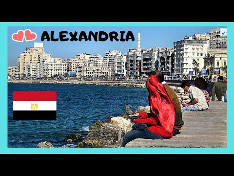 ALEXANDRIA, the fascinating WATERFRONT or CORNICHE (EGYPT)