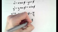 Finding the Coordinates of a Point after a Rotation - Example 1