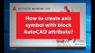 HOW TO USE BLOCK AUTOCAD ATTRIBUTE - AXIS SYMBOL STYLE 1