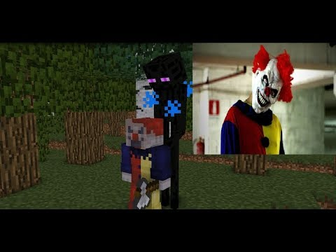 Monster School : Killer Clown Horror Challenge  - Minecraft Animation
